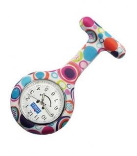 Reloj de Enfermería Broche Multicolor Cuarzo